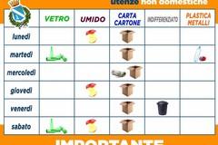 Raccolta differenziata, il calendario per le utenze non domestiche