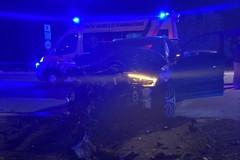 Incidente fra auto all'ingresso di Trinitapoli
