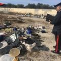 Discarica a cielo aperto a Trinitapoli, i Carabinieri operano il sequestro dell'area