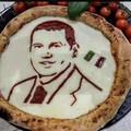 """Una  """"pizza art """" dedicata al sindaco Francesco di Feo"""