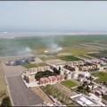 Un drone in azione contro i roghi tossici