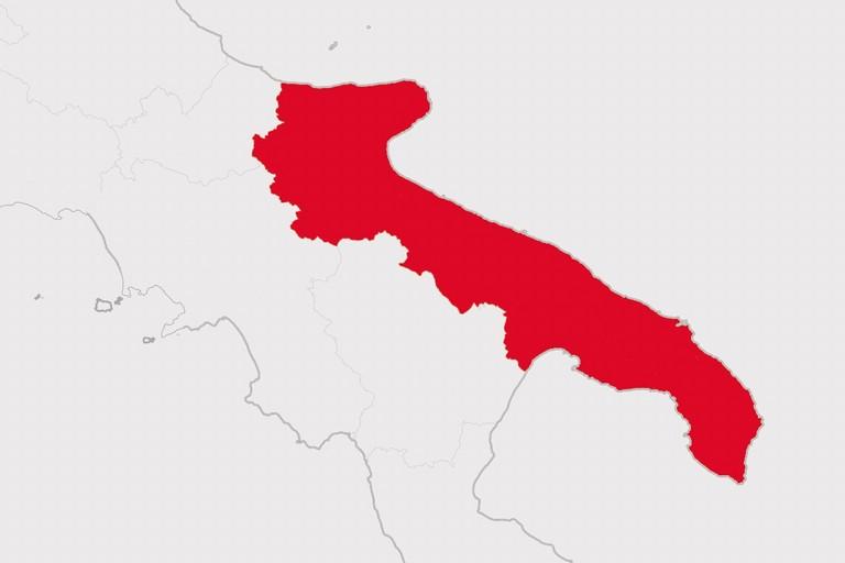La Puglia verso la conferma della zona rossa: indice Rt all'1,06